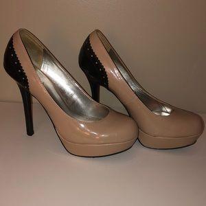 Candie's black and beige high heels
